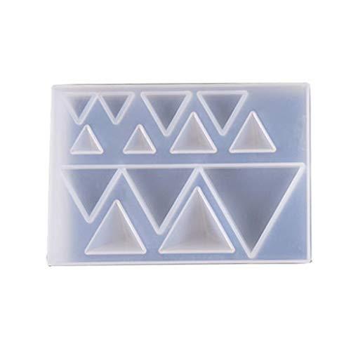 peng PRNG DIY oorbellen hanger edelsteen maken siliconen mal driehoek ronde epoxy schimmel UV hars ambachten mallen