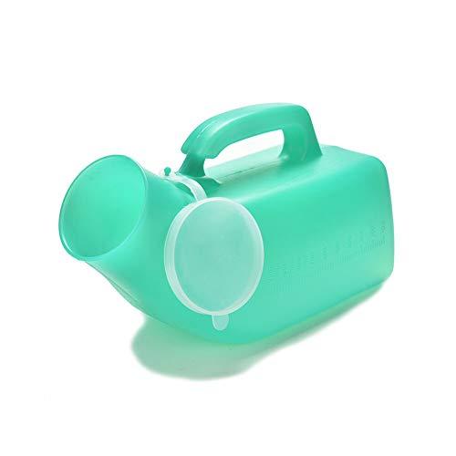 ZQEDY Mannen Urinal Opslag Noodsituatie Ziekenhuis Lek Bewijs Handvat Fles Toilet Schaal Potty Outdoor Draagbaar Met Deksel Camping Reizen