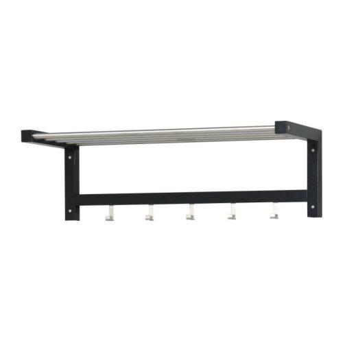 Ikea TJUSIG - Perchero para sombrero, color negro, 79 cm