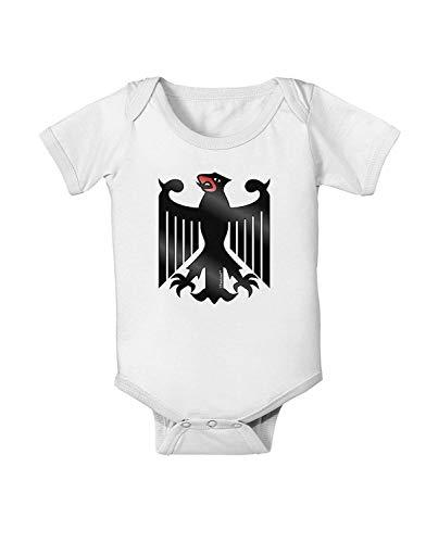 qidushop Bundeswehr Logo Baby Body Baby Body Body Neugeborene Mädchen Jungen Gr. 3-6 Monate, weiß