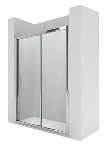 Roca AM13611012 - Mampara de ducha con una puerta corredera y un segmento fijo. para instalar entre paredes o con un lateral fijo lf.