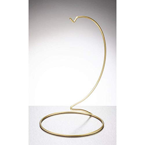 Sienna Glass Gold metal ornament stand large