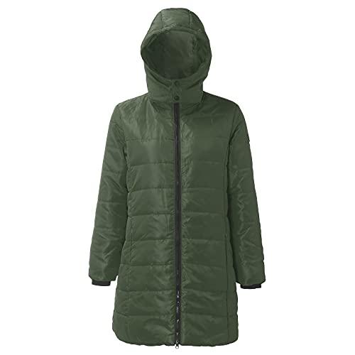 URIBAKY - Chaqueta de manga larga para mujer, con forro polar, forro polar y clido de algodn, con capucha, desmontable, para hombre, para hombre, militar, ajustado, ejrcito verde, XL