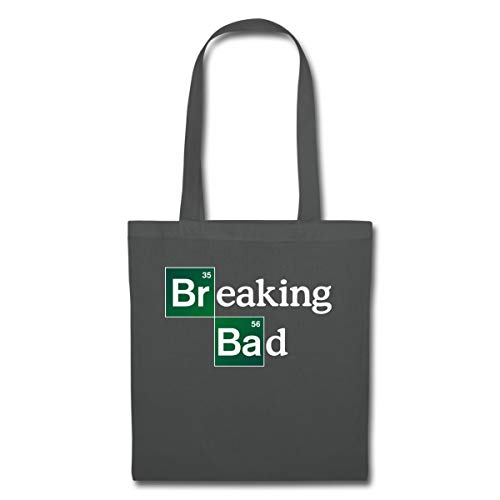Spreadshirt Breaking Bad Logo Brom & Barium Stoffbeutel, Graphite