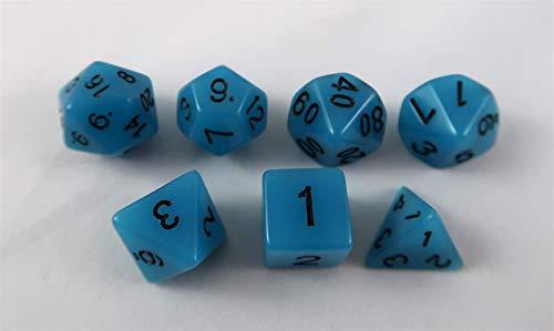 Fluoreszierende Würfel blau Set