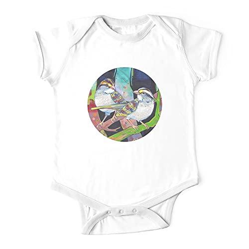Huang Blanco-Garganta Gorriones Pintura - 2012 Bebé De Una Pieza Body Bebé Bebé Mono
