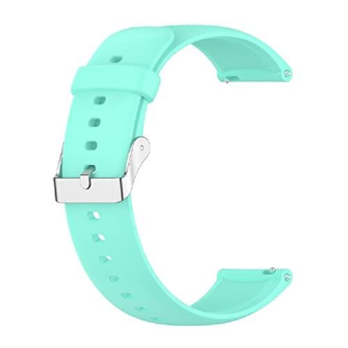 Compatible avec Huawei Watch3 3pro Honor Watch Dream Bands Boucle en Argent Inoxydable Bracelet en Silicone Bracelets Bracelet Ceinture Hommes Femmes Porte-Robe Mini Montre-Bracelet