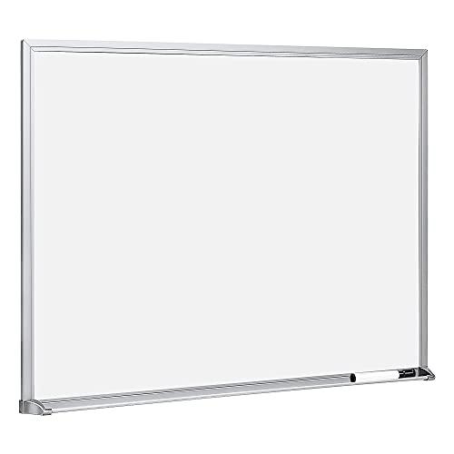 Amazon Basics - Pizarra de borrado en seco, 43,2 x 58,4 cm, bastidor de aluminio