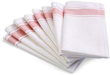 Kozy Kitchen Bistro Stripe Napkins 100 Cotton 20 Inch By 20 Inch Napkin Blue Or Pink Stripe Cloth Napkin Pink 4 Home Kitchen Amazon Com