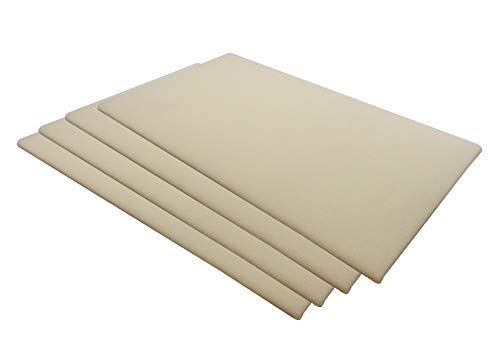 N'icePackaging Beige Schmuckpads – für Ausstellung/Vitrine/Merchandise/Verkauf/Verkauf/Messen (4 Stück) – 35,6 x 19,7 cm