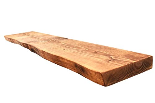 Chill House Floating Shelves Waney/Live Edge - Estante Flotante rústico, Pino Acabado Antiguo, 60 cm