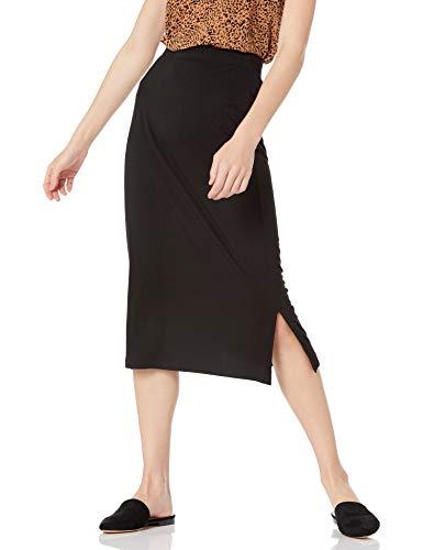 Amazon Essentials Pull On Knit Midi Skirt Rock, Schwarz, XS