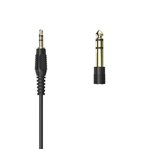 Thomson TV Kopfhörer mit langem Kabel 8m (Kinnbügel Leichtkopfhörer für Senioren und Brillenträger, Stereo Fernsehkopfhörer, In-Ear Kabelkopfhörer zum Fernsehen, 3,5mm Stecker inkl. 6,35mm Adapter)