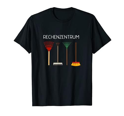 Lustiges Rechenzentrum Gärtner Garten Besen Design T-Shirt