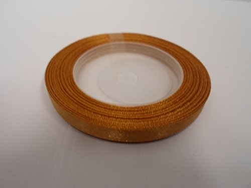 Beautiful Ribbon 1 Rouleau de 6mm de Ruban de Satin x 13 mètres de Caramel Brun Clair des faveurs de Mariage décorations de Pâques de Noël de l'artisanat 6 mm