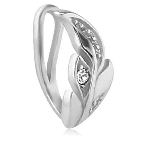 INOKI Fake Piercing Ring Nase Stahl floralys - Breite 4.7 mm