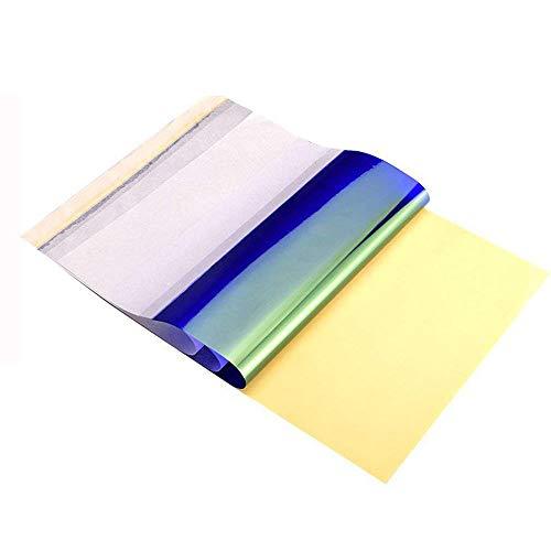 50 Stück Thermal Tracing Carbon Schablone Papier Transfer Blätter Tattoo Transferpapier