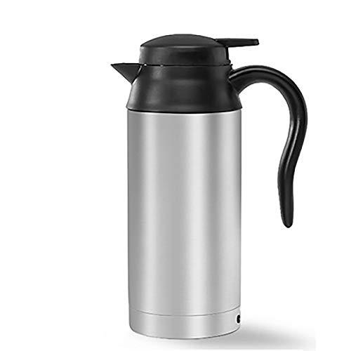 Hengqiyuan Wasserkocher Topf Reisekocher 750Ml 12V Tragbare Edelstahl Elektrische Auto Wasserkocher Auto Kaffeetasse Zigarette Feuerzeug Ladegerät Erhitzt Wasser Tasse Warmwasser Kaffee Tee