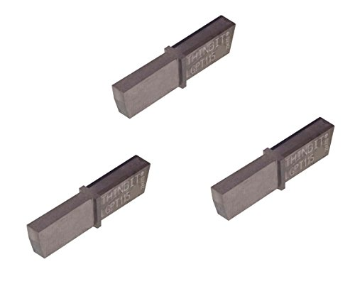 THINBIT 3 Pack LGPT115D2 'L' Series, Uncoated Carbide, Parting Insert for Steel, Cast Iron and Stainless Steel with Interrupted Cuts