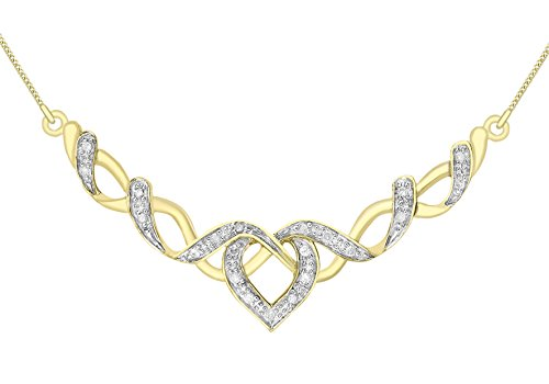 Carissima Gold Damesketting 375 9 karaat (375) bicolor diamant 4,3 cm