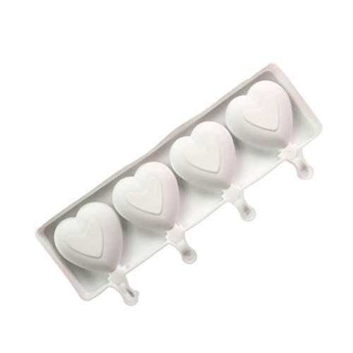 Molde de silicona de gran tamaño, forma de corazón, para palitos de hielo, bandeja para cubitos de hielo, apto para decoración de bar de fiesta (color: forma de corazón)