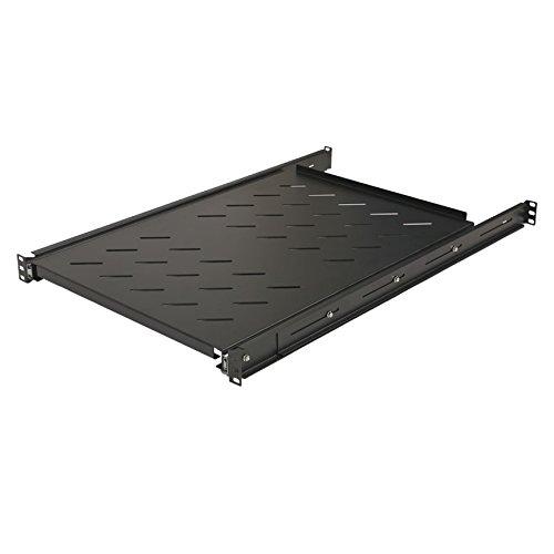 NavePoint Sliding Rack Vented Server Shelf 1U 19 Inch 4 Post Rack Mount 29.50 Inches (750mm) Deep