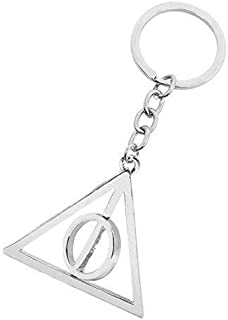 Zchiko Harry Potter Deathly Hallows Keychain. Silver