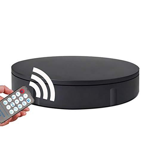 XGGYO Professioneller Elektro-Drehfuß mit Fernbedienung, drehbarem Drehteller für Fotografie, Produkt- oder Kuchenanzeige/Schwarz/Load 150kg