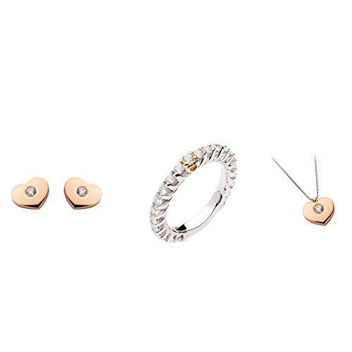 Schmuckset in Gold 18 ct und Diamanten polello Damen