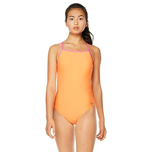 Speedo Women's Swimsuit Piece Endurance The One Solid Team Colors, Orange/Pink, 24
