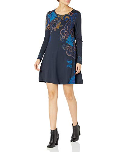Desigual Vest_washintong Vestido Casual, Blue, M para Mujer
