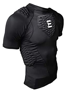 EliteTek Padded Compression Shirt - CPS14 - Youth and Adult Sizes  Black Youth L