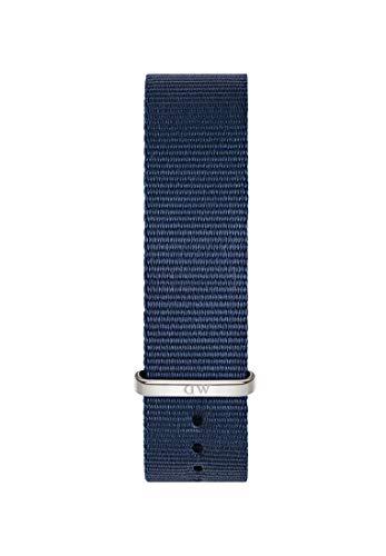 Daniel Wellington Classic Bayswater, Correa Reloj Azul/Plateado, 20mm, NATO, para Hombre