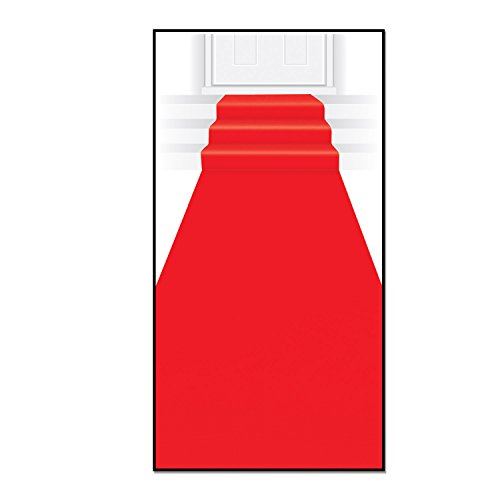 Beistle 50087 Red carpet aisle runner, 24-Inch by 15-Feet