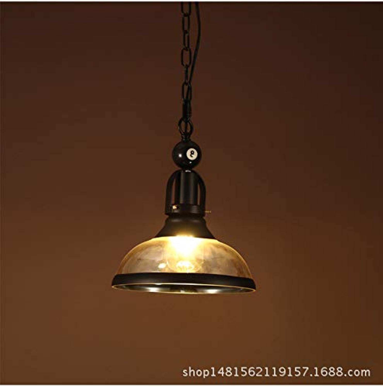 Lx.AZ.Kx E27 Pendelleuchte Modernes, minimalistisches Billard Pendelleuchten Bügeleisen Cafe Restaurant Schlafzimmer Lampen, einem Kopf-Glas)