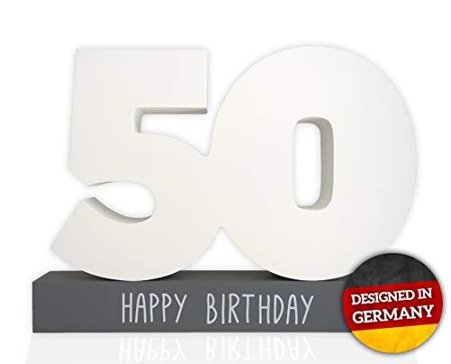 Huckleberry Home Gästebuch 50. Geburtstag aus Holz - Gästebuch für den 50. Geburtstag für...