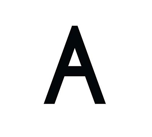 1peak Buchstaben Aufkleber, wetterfest, einzelner Buchstabe A, schwarz, 5cm (50mm) großgeschrieben