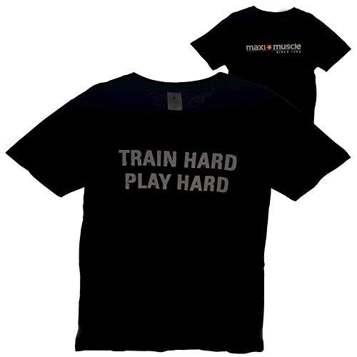 Maximuscle Train Hard Play Hard T-Shirt Black