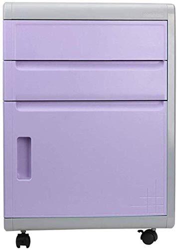 Büroschrank Flat File Cabinet Briefpapier Mesh-Magazin Rack Das Desk unter der Kurz Kabinett Datei Information Storage Locker mit Lock-Multi for den Office-Datei-Rack (Farbe: Lila) ZHNGHENG