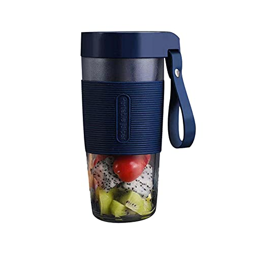 Portable Blender, 350Ml Mini Personal Blender, Shakes And Smoothies Maker, Small Juice Blender, USB Rechargeable,for Sport/Gym/Office/Study/Travel,Blue,3.7V