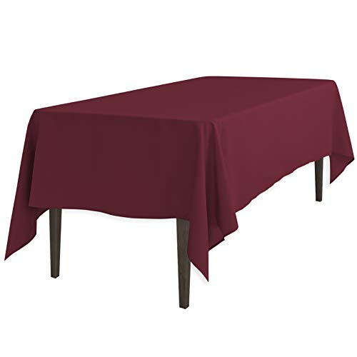 LinenTablecloth 70 x 120-Inch Rectangular Polyester Tablecloth Burgundy