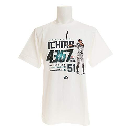 [マジェスティック] ベースボールウェア ICHIRO 引退記念Tシャツ B [メンズ] MM01SM9011 White (3) 日本 L ...