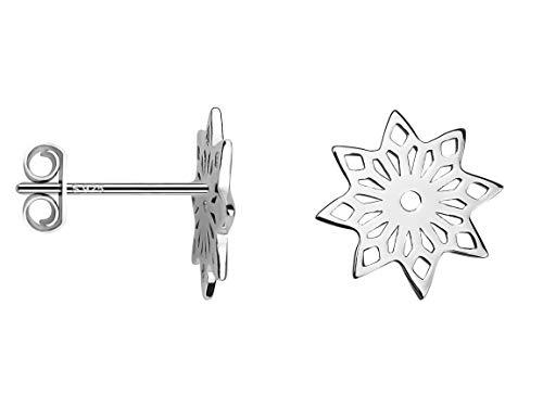 SOFIA MILANI - Damen Ohrringe 925 Silber - Ohrstecker als Blume - 20621