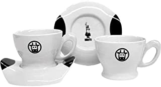 Bialetti Mukka Cow Cappuccino Cup and Saucer Set, Service for 2