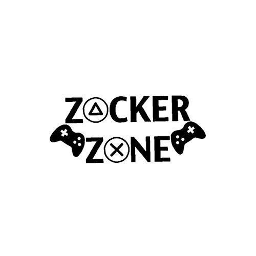 TOPofly Englische Worte Zocker Zone Vinyl Wandtattoo Removable Peel and Stick-Raum-Aufkleber-Dekor für Hauptdekoration Schwarz für Convenience