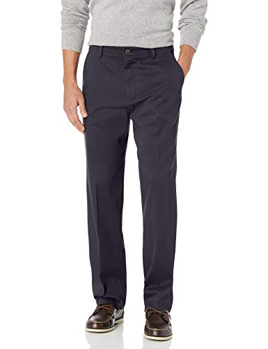 Dockers Men's Classic Fit Easy Khaki Pants D3, Dockers Navy (Stretch), 34 32