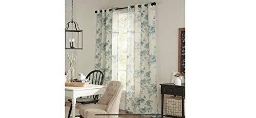 allen + roth LYLA Blue Grommet Top Curtain Panel