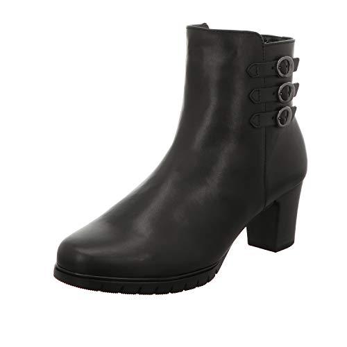 Gabor Damen elegante Stiefeletten, Frauen Klassische Boots,Mehrweite,Echtes Lammfell, winterstiefeletten stiefel,schwarz,42 EU / 8 UK