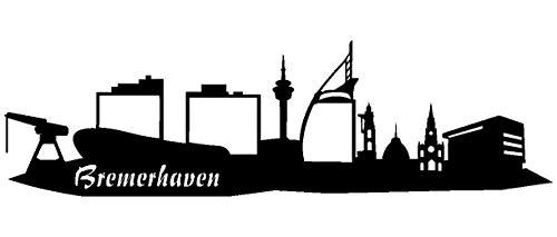 Samunshi® Wandsticker Bremerhaven Skyline viele Größen und Farben sofort lieferbar wandtattoo in 7 Größen und 25 Farben (70x21cm schwarz)