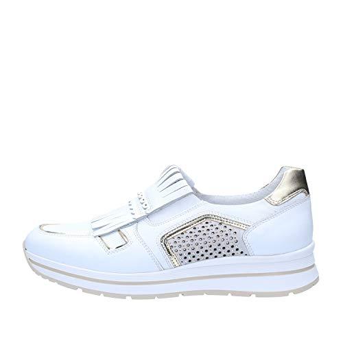 Nero Giardini Donna Sneakers Bianco P805240D Scarpe in Pelle Primavera Estate 2018, EU 37